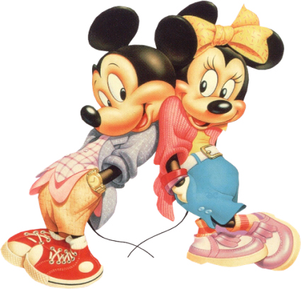 Gangsta Mickey And Minnie Mouse
