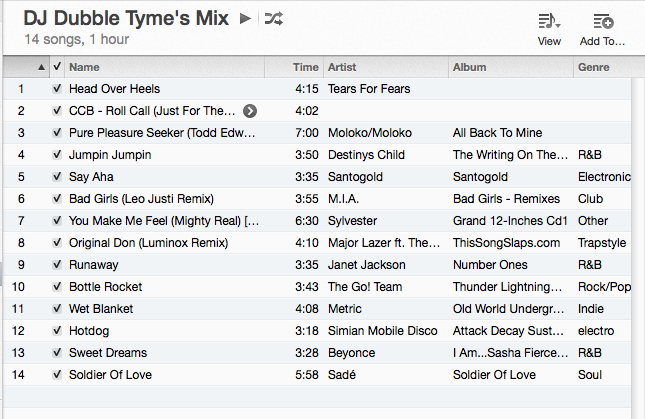 DJ Dubble Tyme Mix