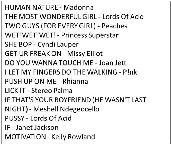 playlist 3-27-13
