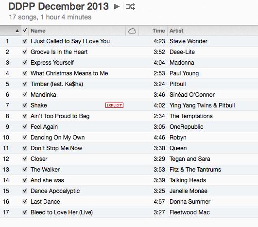 DDPP Playlist Dec 29